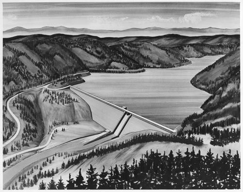Elk Creek Dam drawing