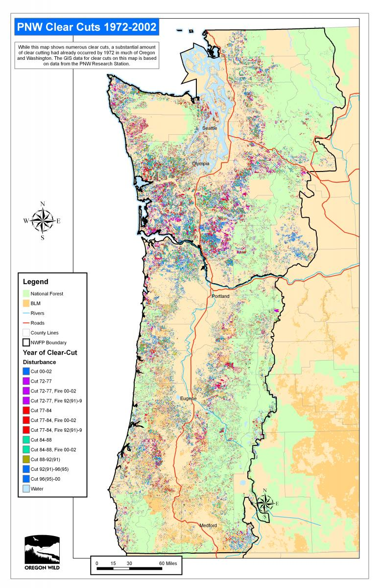 Oregon Wild Map Gallery Oregon Wild - Map of us forest types