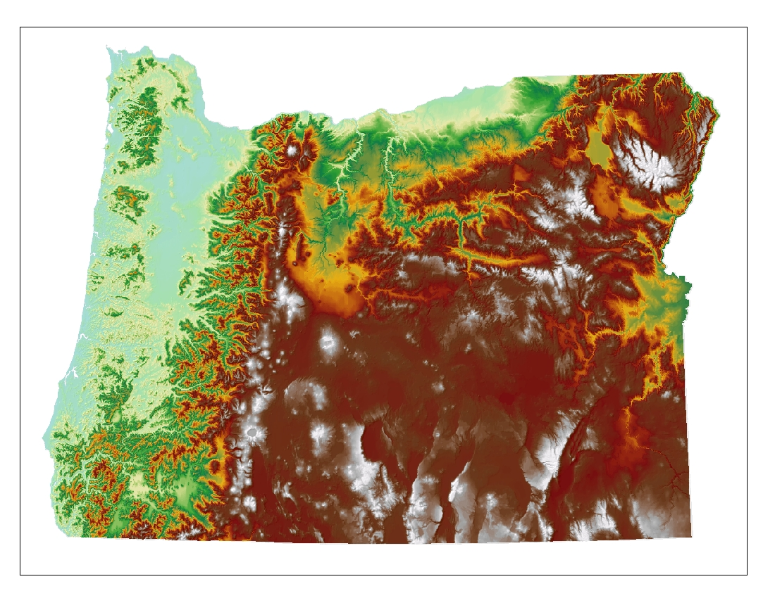Elevation Map Oregon Oregon Topo Map Jpg