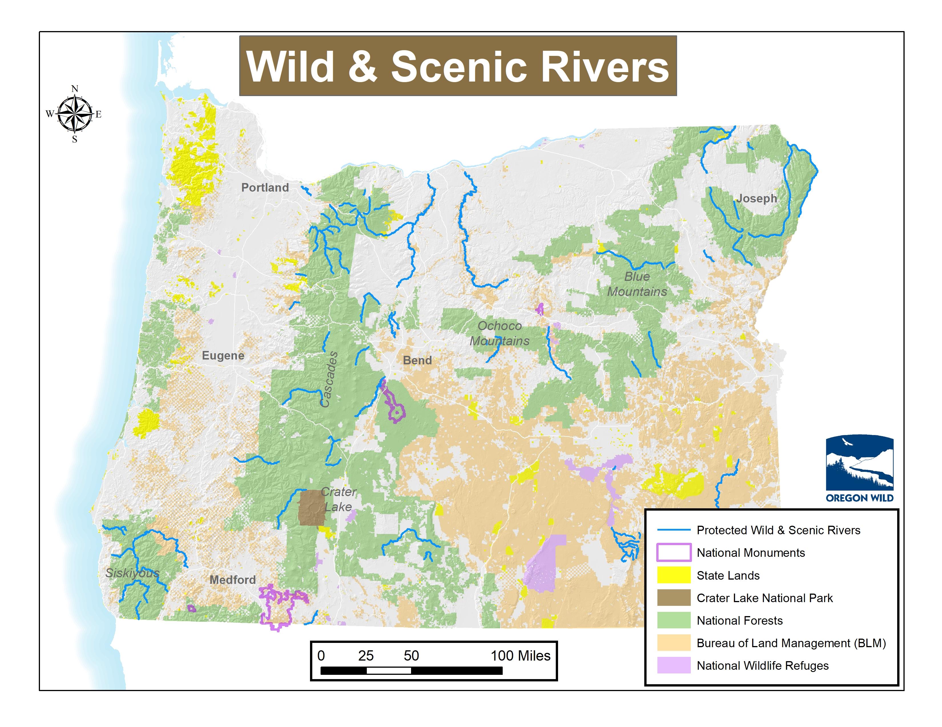 Oregon Wild Map Gallery Oregon Wild